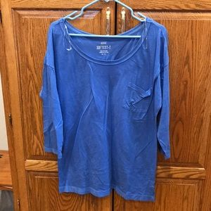 Aerie Wide Neck Softest Tee
